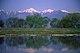 梓川畔から望む常念岳と横通岳