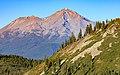 Mount Shasta as seen from Heart Lake in September 2020.jpg