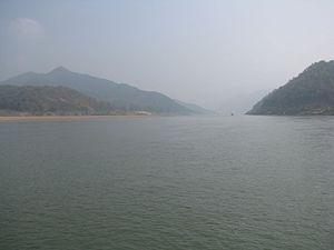Polavaram Project - Papi Hills on both sides of Godavari