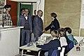 Mr CURIEN Ministre de la Recherche au collège Pierre Brossolette de Chatenay Malabry-8-cliche Jean Weber.jpg