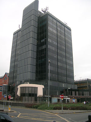 Metropolitan Borough of Rochdale - The old Municipal Offices, demolished in 2014, which were replaced by Number One Riverside.