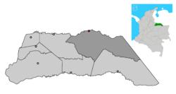 Ubicación de Arauca en Arauca
