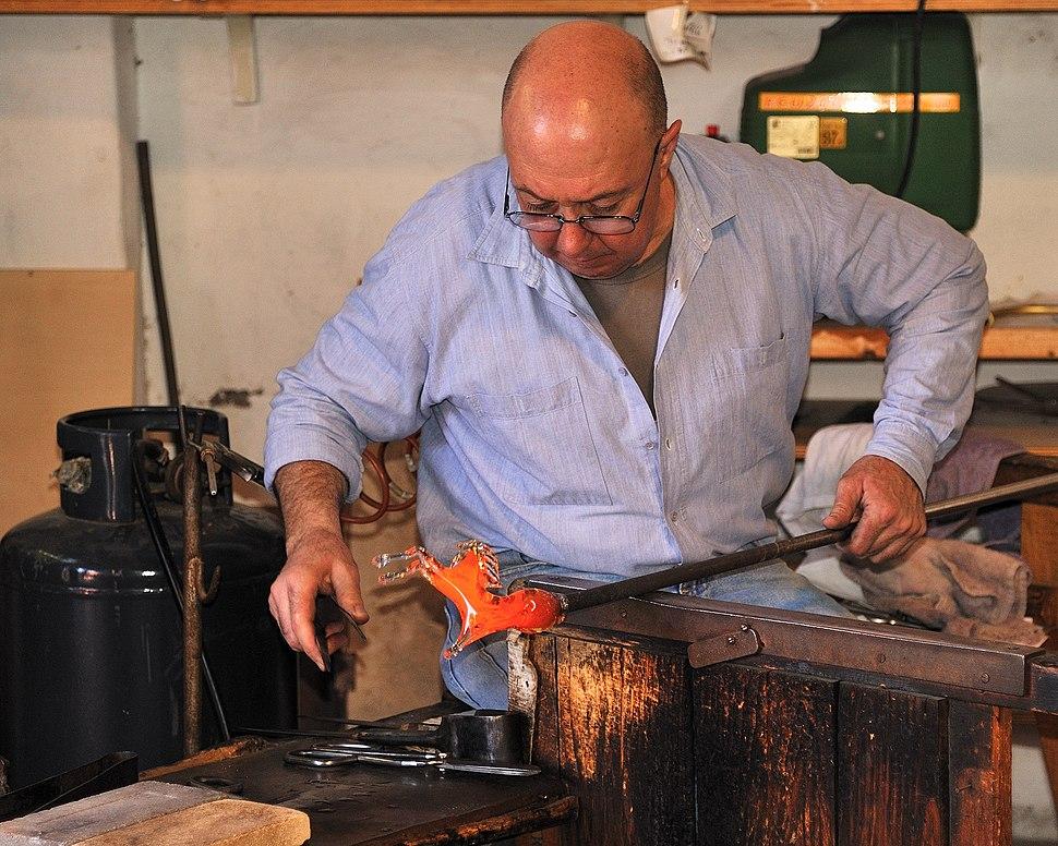 Murano making a Glass Horse