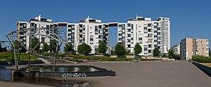 East Helsinki - New residential buildings in Vuosaari, East Helsinki.