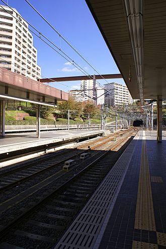 Myōdani Station - Station platforms