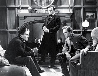 The Mystery of Edwin Drood (1935 film) - Douglass Montgomery, Claude Rains and David Manners in The Mystery of Edwin Drood