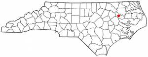 Everetts, North Carolina - Image: NC Map doton Everetts