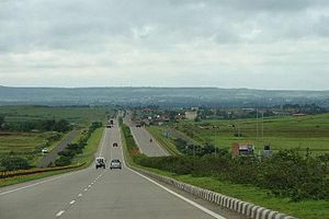 Indian road network - NH75: Part of India's NS-EW Corridor highway network spanning 7000 kilometres