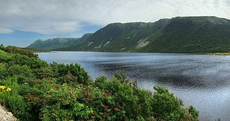 The Long Range Mountains on Newfoundland's west coast is the northernmost extension of the Appalachian Mountains. NLW Table2 tango7174.jpg