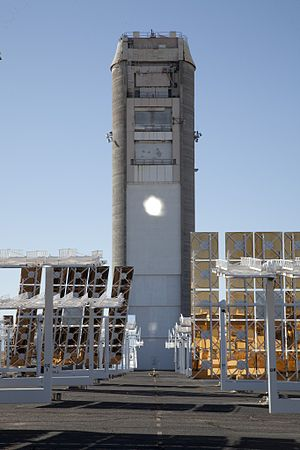 National Solar Thermal Test Facility - The solar power tower field at Sandia National. Labs.