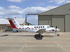 Beechcraft Super King Air - Beechcraft B200T Super King Air with belly camera hatch aft of the wing
