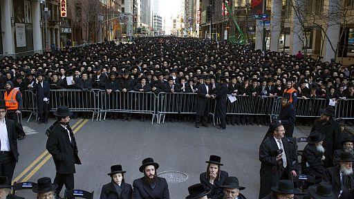 NYC Haredi protesters