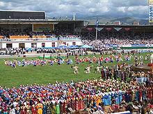 La cerimonia del Naadam a Ulaanbaatar nel 2006.