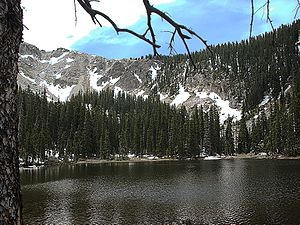 Pecos Wilderness - Nambe Lake at an elevation of 11.402 feet.