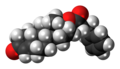 Nandrolone phenylpropionate molecule spacefill.png