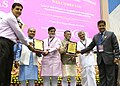 Narendra Singh Tomar along with the Minister of State for Rural Development, Shri Ram Kripal Yadav and the Minister of State for Finance, Shri Santosh Kumar Gangwar presented the awards, at the RSETI Diwas-2017 celebration (1).jpg