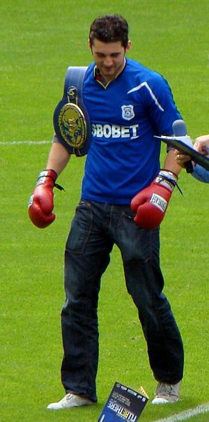 Nathan Cleverly - Cleverly at the Cardiff City Stadium in Wales in August 2010.