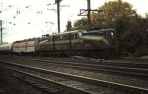 National Limited (Amtrak train) - The National Limited switches from the Northeast Corridor to the Port Road Branch at Perryville, Maryland in the 1970s