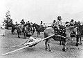 Native American baby transport; Travouis at Lake Windemere. Wellcome L0003105.jpg