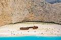 Navagio Strand Zakynthos Griechenland Luftbild (32598114468).jpg