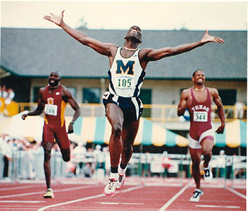 English: Neil Gardner winning the 1996 NCAA Ch...