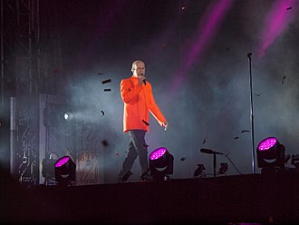 Pet Shop Boys - Neil Tennant performing at Pori Jazz in Finland in 2014.