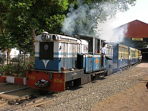 Neral railway station - Matheran Hill Railway departing from Neral Station
