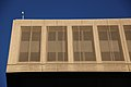 Netting along two upper floors on 10th Street NW - NW corner - J Edgar Hoover Building - Washington DC - 2012.jpg