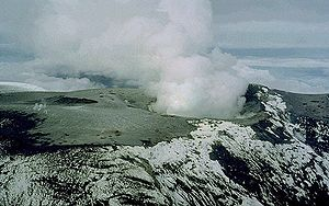 Armero tragedy - The summit of Nevado del Ruiz in late November 1985.