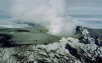 Armero tragedy - The summit of Nevado del Ruiz in late November 1985.