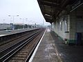 New Cross Gate stn southbound slow look north2.JPG