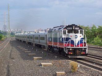 EMD GP40-based passenger locomotives - Metro-North Railroad GP40FH-2 No. 4905 in Secaucus, New Jersey