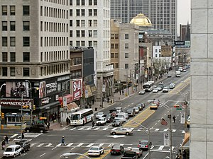 Broad and Market Streets, as seen from the Pru...