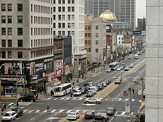 Downtown Newark - Broad and Market Streets, as seen from the Prudential Plaza Building