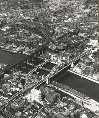 High Level Bridge - The High Level Bridge (left) in 1967