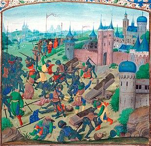 Miniatura del XV secolo rappresentante la battaglia di Nicopoli.