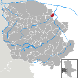 Location of Nienhagen within the Harz district