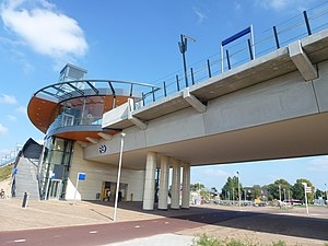 Nijmegen Lent railway station - Image: Nijmegen Lent nieuw station 2013 002