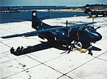 North American AJ-1 at Naval Air Station Patuxent River, circa in the early 1950s (NH 101810-KN).jpg