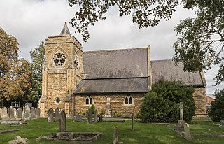North Hykeham Town in Lincolnshire, England