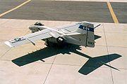 Northrop A-9A parked