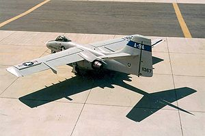 Northrop YA-9 - A rear view