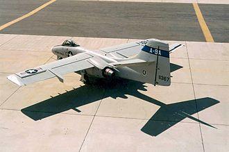 Northrop YA-9 - A rear view