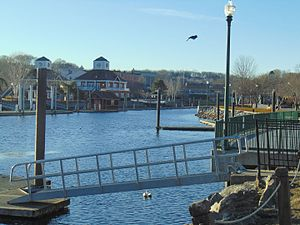 Yantic River - The Norwich Marina, through which the Yantic River runs.