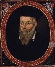 Portrait de Nostradamuspar son fils, César de Nostredame.