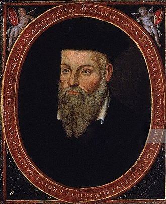 Nostradamus - Nostradamus: original portrait by his son Cesar