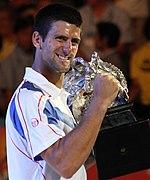 Novak Djokovic AO win 2011.jpg