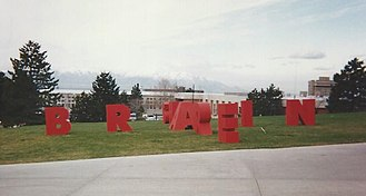 Novell - The annual Novell BrainShare conference, here with its entrance letters in 1995, helped spread the word about how developers and partners could make use of NetWare