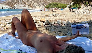 English: Psilli Amos Beach, Patmos, Greece Deu...