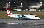 OE-LGJ DHC-8-402Q Austrian Innsbruck 11-12-15 (2) (23304224474).jpg
